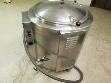 GROEN EE-40, 40 GAL. ELECTRIC 230-240V, 3PH STEAM KETTLE w/ COVER (Stock #605C)