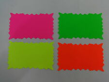 100 Star Burst 3 X 5 Sign Cards 4 Colors Retail Store Supplies