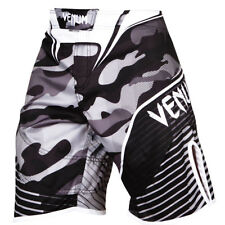 Venum MMA Men's Camo Hero Fight Shorts kurze Herren Hose Gr.S schwarz weiss grau