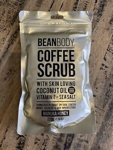 💖 Bean Body Manuka Honey Coffee Body Scrub Skin Loving Coconut Oil 220g 💖 New