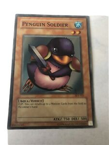 penguin soldier sdj-022 light play super rare yugioh tcg starter deck joey unlim
