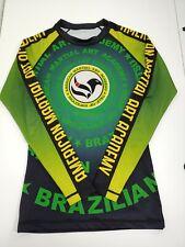 Brazilian Jiu Jitsu BJJ Rash Guard  Long Sleeve American Martial Art Medium M