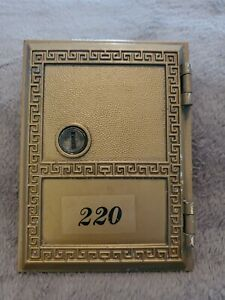 VINTAGE SALSBURY INDUSTRIES MAILBOXES ~ BRASS MAILBOX DOOR