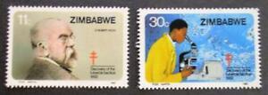Zimbabwe 1982 Tuberculosis Robert Koch, Nobel Medicine MUH set 2
