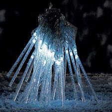 40 ghiaccioli con luce led bianca Luci natale decorazioni natalizie esterno IP44