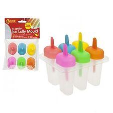 Hazlo tú mismo 6 Congelador Hielo Lolly Pop Molde De Crema De Jugo Hacedor Popsicle yogur Heladera