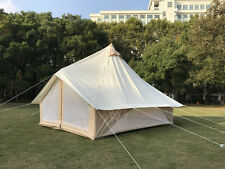 Waterproof 4m Bell Tent for Family Camping Outdoor Luxury Safari Glamping Tent
