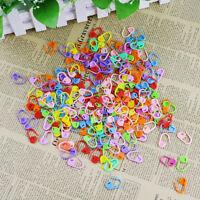20/50/100/200Pcs Knitting Crochet Locking Stitch Markers Holder Needle Clip