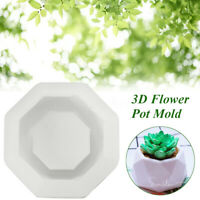 Handmade 3D Silicone Flower Pot Mold Concret Succulent Planter Clay Soap