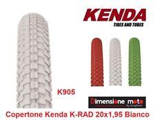 "1 Copertone ""KENDA"" 20x1,95 (50-406) K-RAD Bianco per Bici 20"" MTB Mountain Bike"