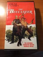 The Buccaneer (VHS, CLAMSHELL) Yul Brynner, Charlton Heston, Charles Boyer