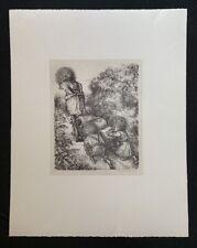 A. Paul Weber, Rübenfuhre, Lithographie, 1980, aus dem Nachlass