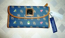 NWT Dooney & Bourke Leather Continental Wallet Navy $138
