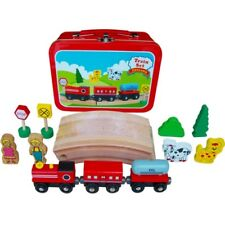 Wooden Train Set in Travel Case! Fits Brio and Thomas sets. Xmas Birthday Track