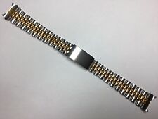 17MM SOLID JUBILEE WATCH BRACELET BAND STRAP FOR ROLEX TUDOR MIDSIZE TWO-TONE
