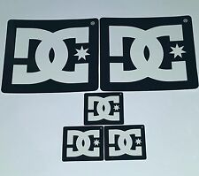 "DC 5 STICKERS 5"" LOGO SKATE MOTO DRIFTING ROB DYRDEK SKATEBOARD STICKER Nos deck"