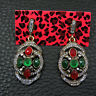 Colorful Betsey Johnson Crystal Rhinestone Dangle Earrings Girl Fashion Jewelry