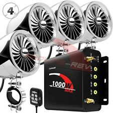 1000W Amp Waterproof Bluetooth Motorcycle Stereo 4-Speaker Audio System ATV UTV