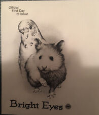 Bright Eyes Parrot And Hamster 1998 Boston, Mass First Day Issue Free Shipping!