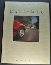 1991 Mazda MX-6 Catalog Sales Brochure Excellent Original 91