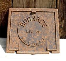 Antique BURNRITE Door Wood Coal Cast Iron Vintage Furnace Stove Part Van Nuys CA