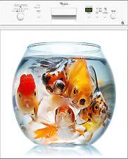 Sticker pour lave vaisselle déco électroménager Bocal Poissons réf 214