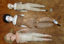 lot 3 antique china and plaster doll as found for repair