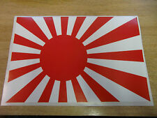 Rising Sun Flag large - Sticker bomb sheet - A4 size (red + white)