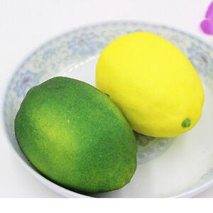 New Decorative Large Lemons Plastic Fruit Yellow Home Decor Party Furnishing ^qi