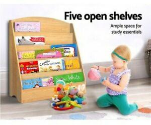 Keezi 5 Tier Kids Bookshelf Magazine Shelf Rack Organiser Bookcase Display Child