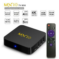 MX10 Smart TV BOX Android 8.1 Rockchip RK3328 4 Go 64 Go IPTV Wifi USB 3.0 HDR.