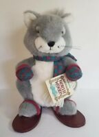 Applause North Woods Hickory Squirrel Wooden Snowshoes Plush Stuffed Animal 9""