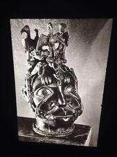 Benin Head Sculpture (Front View) African Nigerian Tribal Art Vintage 35mm Slide