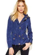 Michael Kors Petite Mini Cinch Waist Rain Jacket Prussian Blue P/S