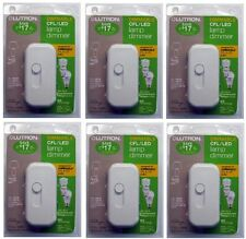 (6) ea Lutron Electronics TTCL-100H-WH White CFL / LED Lamp Dimmer Switch