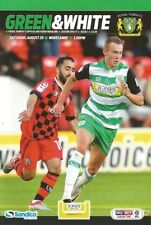 Yeovil Town Home Teams League Two Football Programmes