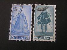 *Belgium, Scott # B465/B466(2) 1948 Portrait Type Various Charities Issue Used