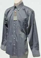 THOMAS DEAN Men's Shirt Button Down Up BLACK GRAY Size Med Long Sleeve NEW $125