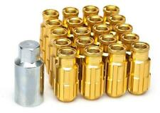 20x GOLD D1 Alloy Locking Wheel Nuts (M12x1.5)+ tool fits HYUNDAI COUPE