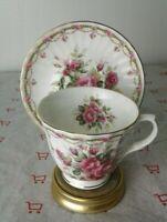 Sheltonian China  Cup & Saucer, English Bone China Flowers And Gold Rim