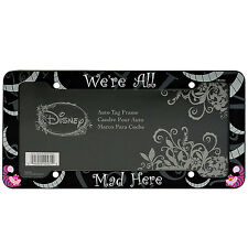 1 Cheshire Cat We're All Mad Here License Plate frame Car Truck
