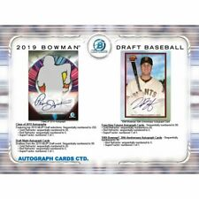 CINCINNATI REDS 2019 BOWMAN DRAFT BASEBALL JUMBO 4 BOX HALF CASE BREAK #4