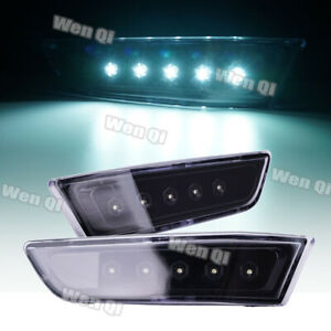 For 2003-2007 INFINITI G35 Coupe Side Marker Light LED Smoky Gray Cover