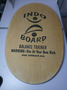 USED Original INDO Board Balance Trainer Fitness Yoga Board Only No Roller