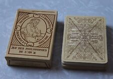 Vintage 70s Jeu Des Philosophes Playing Cards Unused Sealed Reproduction France
