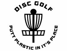 Disc Golf Vinyl Sticker Decal Putt Plastic
