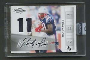 2016 Honors Football Randy Moss PATRIOTS #17 Prestige Jersey Auto /3