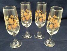 Vintage 1960s Overlaid Wine Glasses - Set Of Four