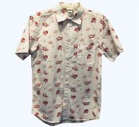 Vintage Disney Mens Small Toy Story Pizza Planet Cotton Button Up Shirt