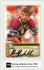 2003 Select NRL XL Future Force Signature Card FF37 Chad Randall (Manly)